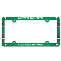 North Dakota University Plastic License Plate Frame