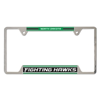 North Dakota University Metal Chrome License Plate Frame