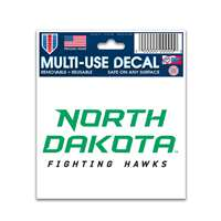 "North Dakota Fighting Hawks Decal 3"" X 4"" - Team Logo"