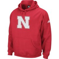 Adidas Nebraska Cornhuskers Playbook Fleece Hooded Sweatshirt - Red