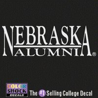 Nebraska Cornhuskers Decal - Nebraska Over Alumni