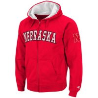 Nebraska Cornhuskers Full Zip Automatic Hooded Sweatshirt