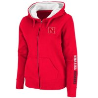 Nebraska Cornhuskers Womens Full Zip Titan Fleece Hooded Sweatshirt