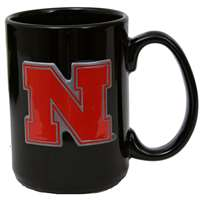 Nebraska Cornhuskers 15oz Black Ceramic Mug