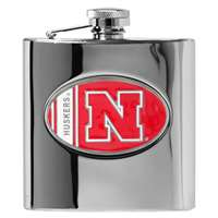 Nebraska Cornhuskers Stainless Steel Hip Flask