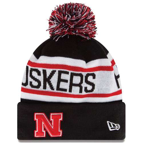fce1976359b Nebraska Cornhuskers New Era Biggest Fan Knit Beanie