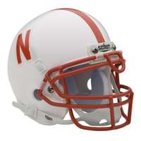 Nebraska Cornhuskers Mini Helmet by Schutt - White