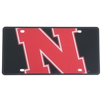 Nebraska Cornhuskers Full Color Mega Inlay License Plate