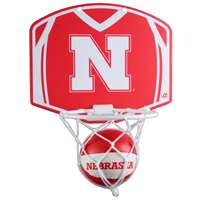 Nebraska Cornhuskers Mini Basketball And Hoop Set