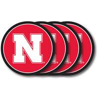 Nebraska Cornhuskers Coaster Set - 4 Pack