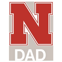 Nebraska Cornhuskers Transfer Decal - Dad