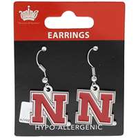 Nebraska Cornhuskers Dangler Earrings
