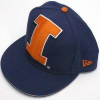 uk availability 91c9e 95429 Illinois Fighting Illini New Era 59fifity Big One Fitted Hat (5950)