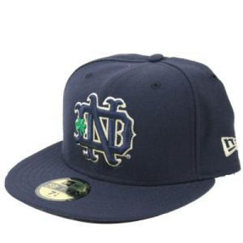 Notre Dame New Era 59fifty Fitted Hat - Navy 8bff4093bd5
