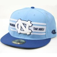 North Carolina New Era 5950 Hat - 3 Stripe