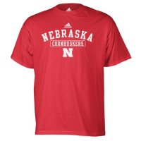Adidas Nebraska Cornhuskers Short Sleeve Team T Shirt