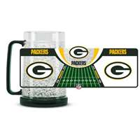 Green Bay Packers Mug - 16 Oz Freezer Mug - Field Logo