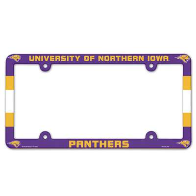 Northern Iowa Panthers Plastic License Plate Frame