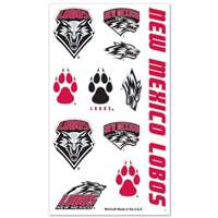 New Mexico Lobos Temporary Tattoos