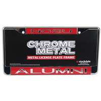 North Carolina State Wolfpack Metal Alumni Inlaid Acrylic License Plate Frame