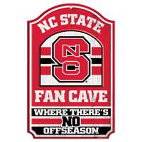 North Carolina State Wolfpack Fan Cave Wood Sign