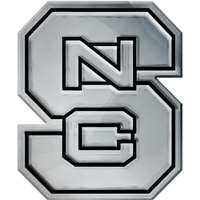 North Carolina State Wolfpack Chrome Auto Emblem