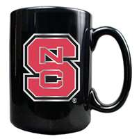 North Carolina State Wolfpack 15oz Black Ceramic Mug