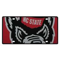 North Carolina State Wolfpack Full Color Mega Inlay License Plate