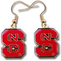 North Carolina State Wolfpack Dangler Earrings