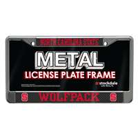 North Carolina State Wolfpack Metal License Plate Frame - Carbon Fiber