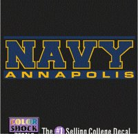 Navy Midshipmen Decal - Navy Over Annapolis