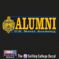 Navy Midshipmen Decal - Crest W/ Alumni Over Us Naval Academy