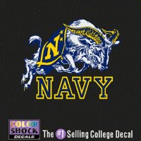 Navy Midshipmen Decal - Mascot Over Navy