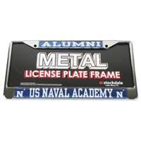 Navy Midshipmen Alumni Metal License Plate Frame W/domed Insert - Alt