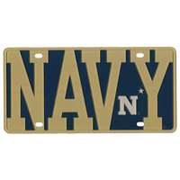 Navy Midshipmen Full Color Mega Inlay License Plate