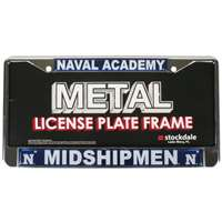 Navy Midshipmen Metal License Plate Frame w/Domed Acrylic