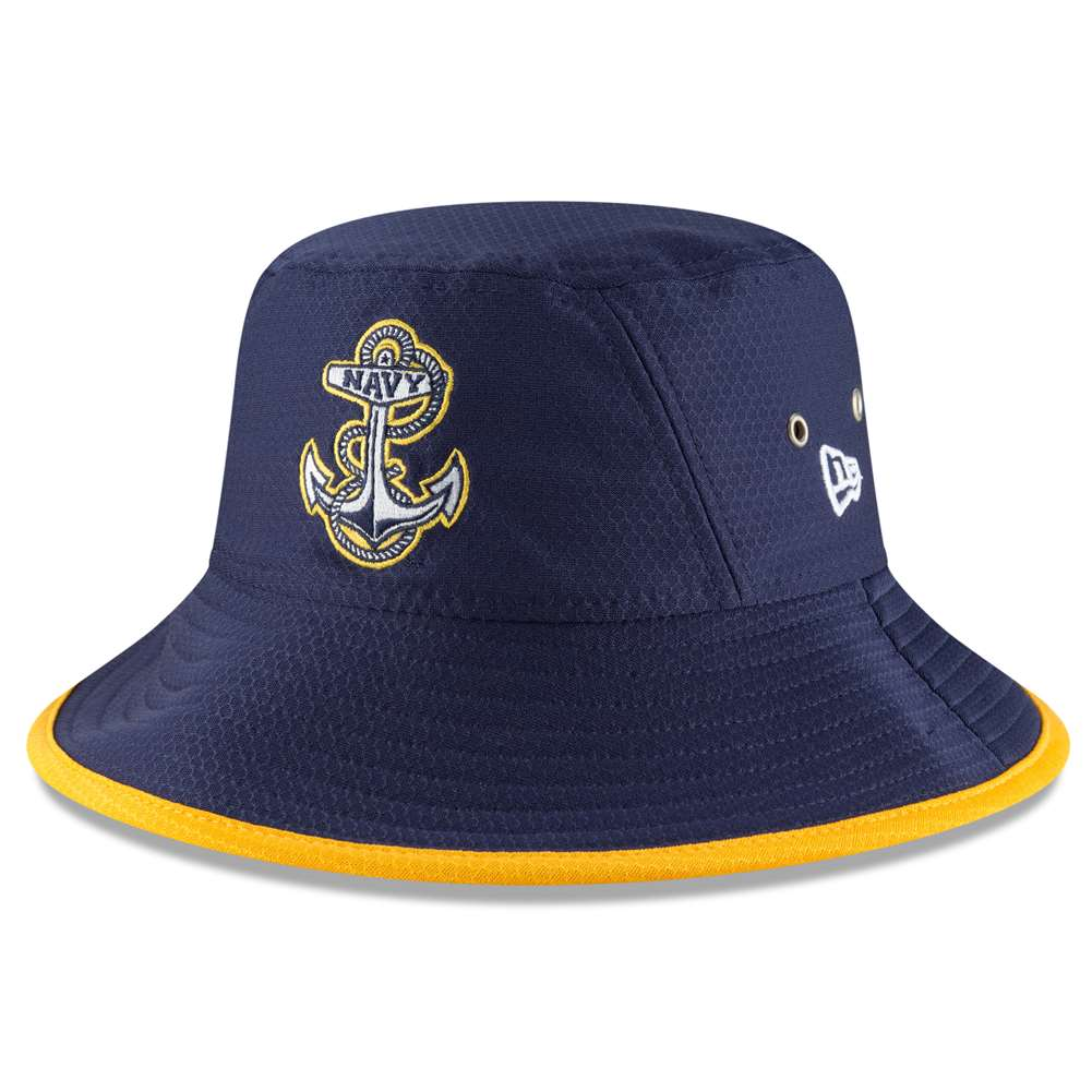 Navy Midshipmen New Era Hex Bucket Hat - Navy 4641174e9e2