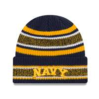 Navy Midshipmen New Era Vintage Stripe Beanie