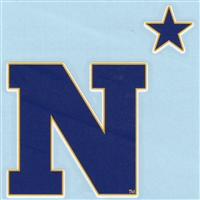 Navy Midshipmen High Performance Decal - N with Star - Alt