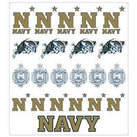 Navy Midshipmen Multi-Purpose Vinyl Sticker Sheet