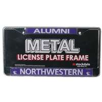 Northwestern Wildcats Alumni Metal License Plate Frame W/domed Insert