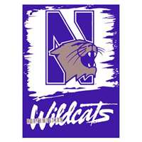"Northwestern Wildcats Banner/vertical Flag 27"" X 37"""