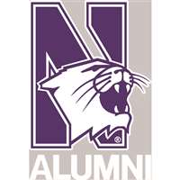 Northwestern Wildcats Transfer Decal - Alumni