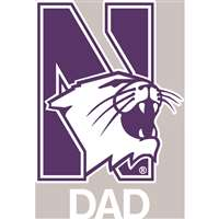 Northwestern Wildcats Transfer Decal - Dad