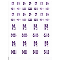 Northwestern Wildcats Small Sticker Sheet - 2 Sheets
