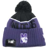 Northwestern Wildcats New Era Sport Knit Pom Beanie