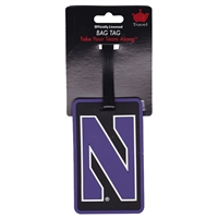 Northwestern Wildcats Soft Luggage/Bag Tag