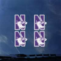 Northwestern Wildcats Transfer Decals - Set of 4