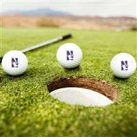 Northwestern Wildcats Golf Balls - Set of 3
