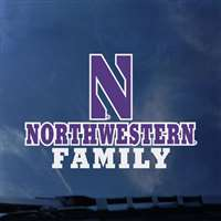 Northwestern Wildcats Transfer Decal - Family